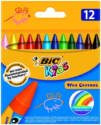 Picture of BIC WAX CRAYON Pouch 12 pcs 616834