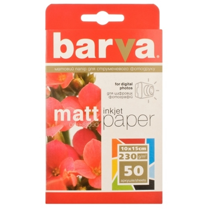 Picture of Photo paper Barva Mate 230 g/m², 10x15, 50 sheets