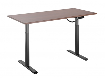 Изображение Height adjustable table Up Up, black frame, electric 1 motor height adjustment, 2-stage, dark walnut tabletop 1200x750mm