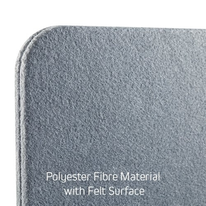 Изображение Up up acoustic desktop privacy panel with felt surface, gray (750x600mm)