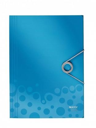 Attēls no Aplankas su gumele Leitz WOW, A4, plastikinis, mėlynas 0816-113