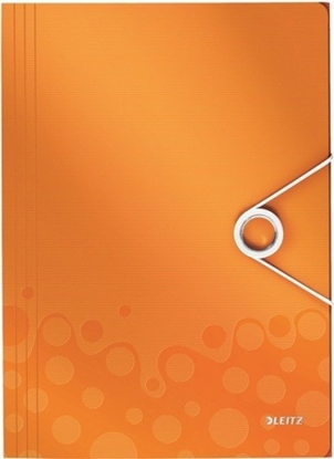 Изображение Aplankas su gumele Leitz WOW, A4, plastikinis, oranžinis 0816-116
