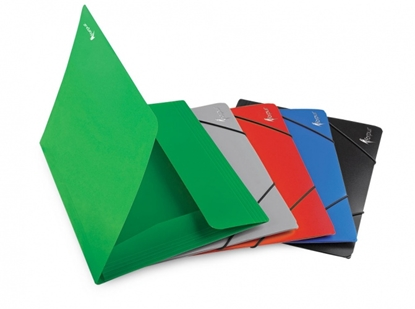 Изображение Aplankas su gumelėmis Forpus Premier, A4, plastikinis, talpa 150 lapų, pilkas 0816-011