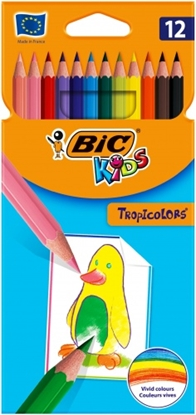 Изображение BIC Colored pencils TROPICOLORS Pouch 12 pcs 022503