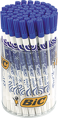 Picture of BIC Ink Eater Tubo Blue, Pouch 60 pcs 784311