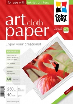 Picture of Design Paper ColorWay cloth, A4, 230g, Glossy (10) 0710-611