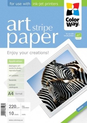 Picture of Design Paper ColorWay Lines, A4, 220g, Matte (10) 0710-600