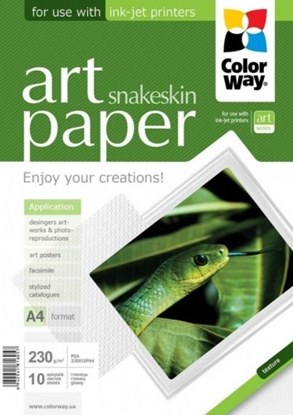 Picture of Design Paper ColorWay snake skin, A4, 230g, Glossy (10) 0710-612