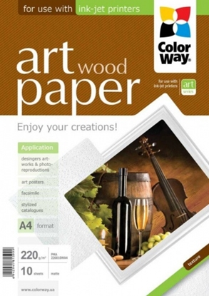 Picture of Design Paper ColorWay Wood, A4, 220g, Matte (10) 0710-602
