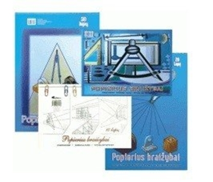 Picture of Drawing paper SMLT, A4, 160 g, album, glued, (20) 0708-007
