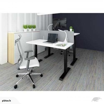 Изображение Height adjustable table Up Up, black frame, electric 2 motor height adjustment, 3-stage, white tabletop 1500x750mm