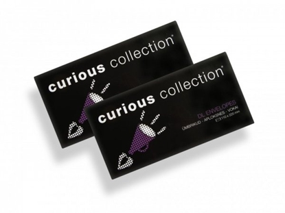 Picture of Envelope Curious, DL, 110x220 mm, 120 g, Metallics White Gold, Glossy (20) 0721-406
