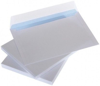 Picture of Envelopes C65 white with ribbon and internal press 114x229 mm x 50pcs