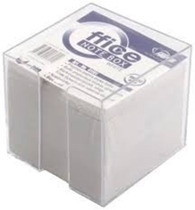 Attēls no Notes Forpus, 9x9 cm, white, Not glued, with cover (800) 0716-005