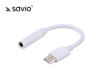 Attēls no Adapter audio - USB Typ C - mini Jack 3,5 mm SAVIO AK-35