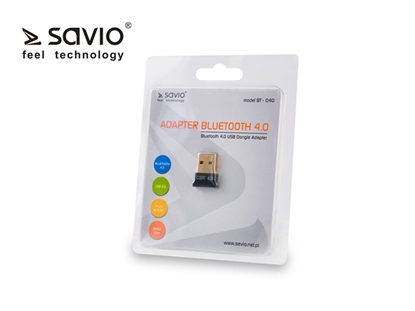 Picture of Adapter komputerowy USB Nano SAVIO BT-040 Bluetooth 4.0, 3Mb/s, zasięg 50m