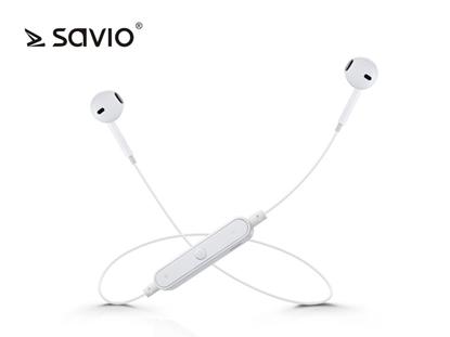 Attēls no Bezprzewodowe słuchawki Bluetooth v.4.2 z mikrofonem Savio WE-01 Sport