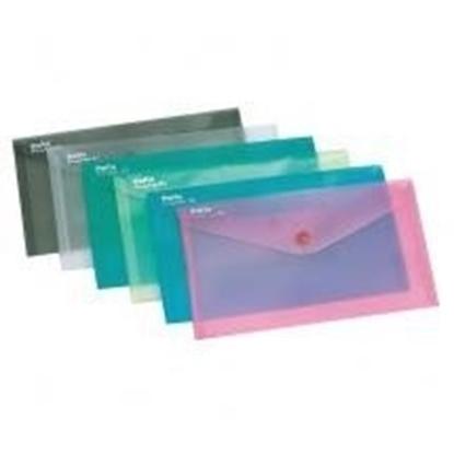 Attēls no Aplankas-vokelis su spaude, E65/DL, plastikinis, įvairių spalvų, skaidrus 0820-110