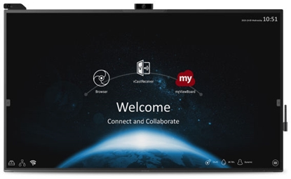 "Изображение 64.5"", PCAP, 3840xx2160, 350nits, 1200:1 CR, 16GB storage, Speaker 10Wx2+15Wx1, Sensor Hub and Viedo Camera included,  optional slot in PC (VPC17-WP)"