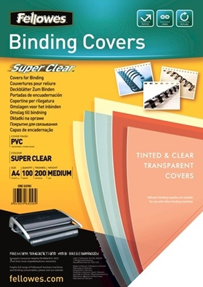 Picture of Fellowes Binding Covers A4 Clear PVC   200 Mikron