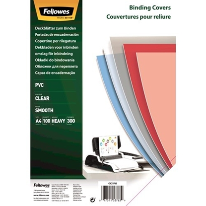 Picture of Fellowes Binding Covers A4 Clear PVC   300 Mikron
