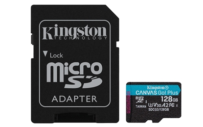 Attēls no Kingston Canvas Go Plus MicroSDXC 128GB