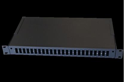 """Изображение 19"""" Izbīdāms Optiskais komutācijas panelis ar kasetēm, 24 porti SC Duplex vai LC QUAD"""