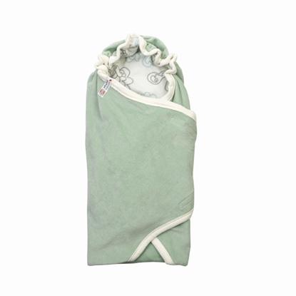 Изображение Lodger Wrapper Newborn Empire kokvilnas ietinamā sedziņa 2 in 1, Silt green
