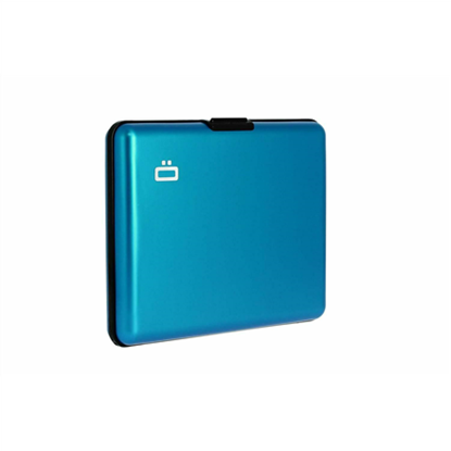 Изображение Ögon Big Stockholm Alu wallet / credit card holder 95 g, Blue, Aluminium, RFID Safe : protects your cards from fraud. Holds up to 10 cards + ID card, driving licence.