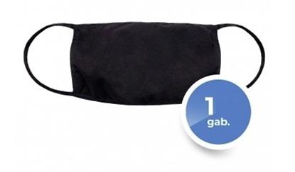 Изображение Mocco Textile two-layer reusable masks Black