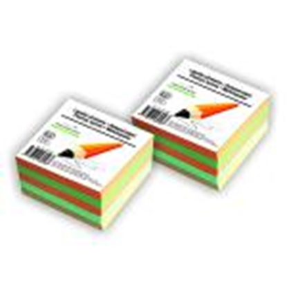 Attēls no Piezīmju bloks līmēts 90x90mm krāsains 500lapas SMLT