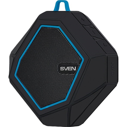 Изображение SVEN Speaker   PS-77, black-blue (5W, Waterproof (IPx5), Bluetooth, microSD, FM