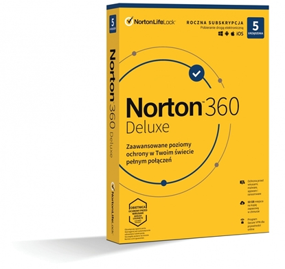 Picture of *Norton 360 DELUX   50GB PL 1U 5Dvc 1Y   21408667