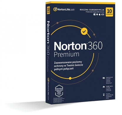 Изображение *Norton 360 PREMIUM 75GB PL 1U 10Dvc 1Y  21408749