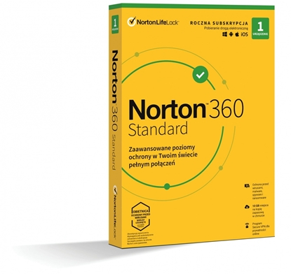 Picture of *Norton 360 STANDARD 10GB PL 1U 1Dvc 1Y   21408666