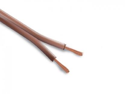 Изображение Akustiskais vads kabelis, InstallBase™, 2x1.00 mm2, caurspīdīgs, plakana forma, 100m