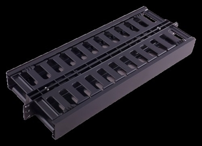 """Picture of 1U kabeļu organizators 19"""" komutācijas skapim, plastmasas, divpusējs"""