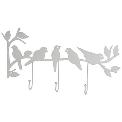 Изображение Drēbju pakaramais sienas 4living Putni 3-āķi melns