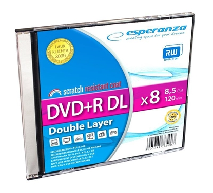Attēls no Esperanza 1246 blank DVD 8.5 GB DVD+R DL 1 pc(s)