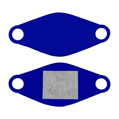 Изображение Maseczka ochronna wielorazowa z wymiennym wkładem MED-M02 niebieska