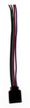"Picture of 10mm RGB vienpusējs ""plug"" tipa konektors, 10cm"