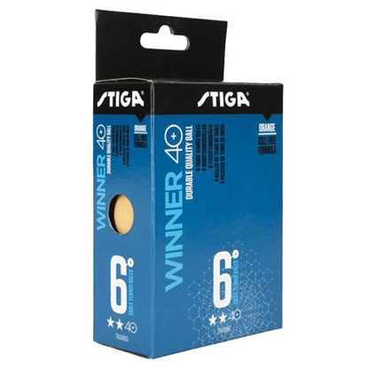 Attēls no Galda tenisa bumbiņas Stiga Winner 2-star ABS 6gab. oranžas