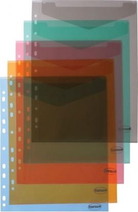 Picture of Aplankas-vokelis su spaustuku ir perforacija Centrum, A4, plastikinis, įvairių spalvų, skaidrus, ver