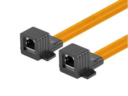 Изображение Adapter złączka sieciowa RJ45 kat.5e 23cm