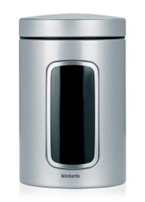 Изображение BRABANTIA kārba ar lodziņu,1.4 l Metallic Grey