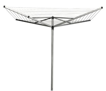 Изображение BRABANTIA rotējošs veļas žāvētājs Topspinner, 40m, 4 atzar., Metallic Grey