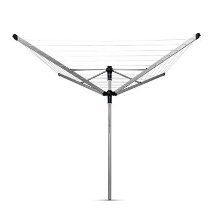 Picture of BRABANTIA rotējošs veļas žāvētājs, 50m, met.stipr+pārv+soma, Metallic Grey