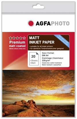 Attēls no AgfaPhoto Premium Double Side Matt-Coated 220 g A 4 20 Sheets