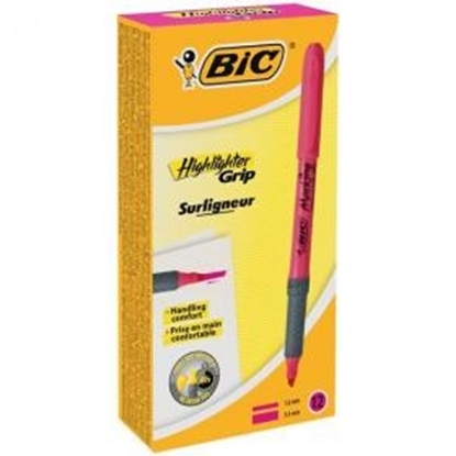 Изображение BIC Highlighter FLEX Pink Box 12 494879