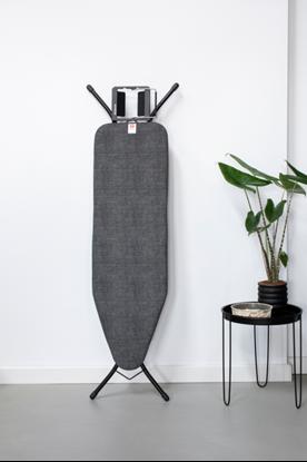 Attēls no BRABANTIA gludināmā dēļa pārvalks, 124x38 cm, Denim Black (B) 4mm+ 4mm filcis
